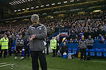 Sheffield Wednesday 2 Peterborough 1, 20/01/2010. Hillsborough, Championship. New manager Alan Irvine checking his watch before Sheffield Wednesday take on Peterborough United in a Coca-Cola Championship match at Hillsborough Stadium, Sheffield. The home side won by 2 goals to 1 giving Alan Irvine his third straight win since taking over as Wednesday's manager. Photo by Colin McPherson.