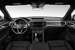 Stock photo of straight dashboard view of 2020 Volkswagen Atlas-Cross-Sport SE-w/Tech 5 Door SUV Dashboard