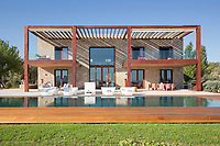 BNPS.co.uk (01202) 558833. <br /> Pic: Hamptons/BNPS<br /> <br /> Pictured: The outside porches and swimming pool.<br /> <br /> A stunning villa where Love Island was filmed is on the market for £5.94m.<br /> <br /> Fans of the show - where singletons live together and couple up to stay in the villa and win a cash prize - might recognise this beautiful home from the Australian spin-off.<br /> <br /> The elegant six-bedroom property, which has a pool and a vineyard, was used in the first series of the Australian version, filmed in 2018 but only aired in the UK last year.