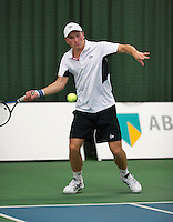 18-01-14,Netherlands, Rotterdam,  TC Victoria, Wildcard Tournament, ,   Alban Meuffels (NED)   <br /> Photo: Henk Koster