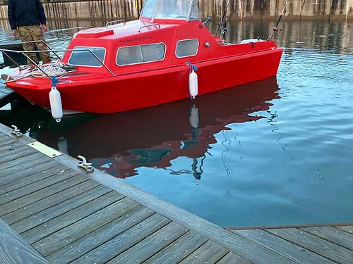 The vessel towed to Bangor Marina