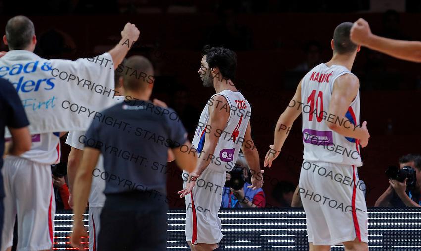 Milos Teodosic European championship quarter-final basketball match between Serbia and Czech Republic on September 16, 2015 in Lille, France  (credit image & photo: Pedja Milosavljevic / STARSPORT)