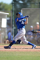 Kansas City Royals outfielder Dominique Taylor (30) during an instructional league game against the Seattle Mariners on October 2, 2013 at Surprise Stadium Training Complex in Surprise, Arizona.  (Mike Janes/Four Seam Images)