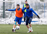 St Johnstone Training...   21.01.21<br />Callum Hendry and Michael O'Halloran pictured during training at McDiarmid Park ahead of Saturday's BetFred Cup semi-final against Hibs at Hampden.<br />Picture by Graeme Hart.<br />Copyright Perthshire Picture Agency<br />Tel: 01738 623350  Mobile: 07990 594431
