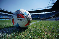 SAN JOSE, CA - AUGUST 8: MLS adidas soccer ball before a game between Los Angeles FC and San Jose Earthquakes at PayPal Park on August 8, 2021 in San Jose, California.