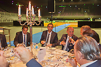 September 10, 2014,Netherlands, Amsterdam, Ziggo Dome, Davis Cup Netherlands-Croatia, Official Diner, Croatian team toast, in the middle Marin Cilic<br /> Photo: Tennisimages/Henk Koster