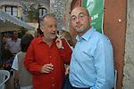 PAOLO FRANCHI CON ALDO CAZZULO<br /> PREMIO LETTERARIO CAPALBIO 2004
