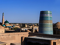 Minarett Kalta Minor, Xiva, Usbekistan, Asien, UNESCO-Weltkulturerbe<br /> Minaret Kalta Monor, historic city Ichan Qala, Chiwa, Uzbekistan, Asia, UNESCO heritage site