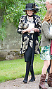 LADY ANNE GLENCONNER, LEAVES TRAQUAIR KIRK, KIRKHOUSE, AFTER THE MEMORIAL SERVICE FOR LORD COLIN CHRISTOPHER PAGET GLENCONNER