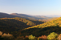 The Blue Ridge mountains scenic views from Shenandoah National park from Naked Creek Overlook.
