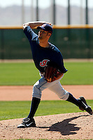 Brad Hinkle -  Cleveland Indians - 2009 spring training.Photo by:  Bill Mitchell/Four Seam Images