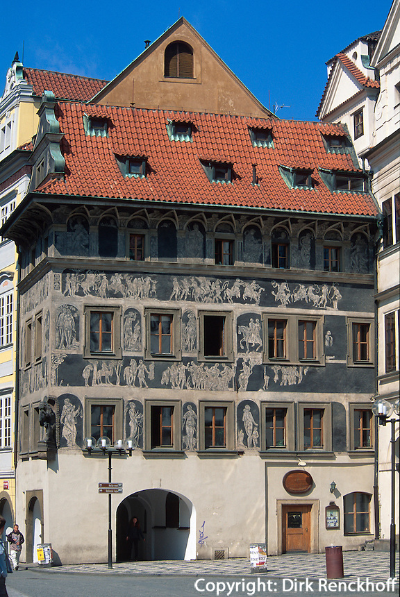 Haus zur Minute, Prag, Tschechien, Unesco-Weltkulturerbe.