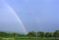 SR09-004z  Weather - double rainbow after storm