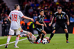Eduardo Meza of Argentina (C) in action during the International Friendly 2018 match between Spain and Argentina at Wanda Metropolitano Stadium on 27 March 2018 in Madrid, Spain. Photo by Diego Souto / Power Sport Images