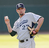 RHP Robby Donovan (27) of the Lexington Legends, Class A affiliate of the Houston Astros, at a game against the Greenville Drive April 25, 2010, at Fluor Field at the West End in Greenville, S.C. Photo by: Tom Priddy/Four Seam Images