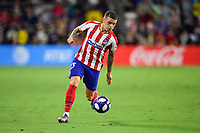 Orlando, FL - Wednesday July 31, 2019:  Kieran Trippier #23 during the Major League Soccer (MLS) All-Star match between the MLS All-Stars and Atletico Madrid at Exploria Stadium.