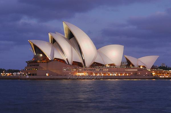 Opera House at dawn, Sydney , New South Wales, Australia