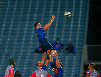 2nd October 2020; RDS Arena, Dublin, Leinster, Ireland; Guinness Pro 14 Rugby, Leinster versus Dragons; James Ryan (Leinster) sets to gather the lineout ball