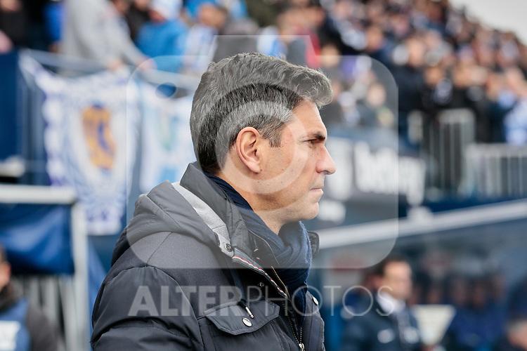 CD Leganes's coach Mauricio Pellegrino during La Liga match between CD Leganes and Real Betis Balompie at Butarque Stadium in Madrid, Spain. February 10, 2019. (ALTERPHOTOS/A. Perez Meca)