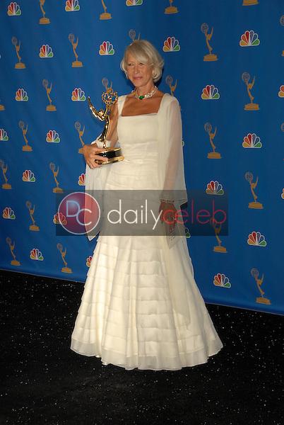 Helen Mirren<br />in the Press Room at the 58th Annual Primetime Emmy Awards. The Shrine Auditorium, Los Angeles, CA. 08-27-06<br />Scott Kirkland/DailyCeleb.com 818-249-4998