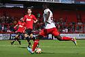 Oumare Tounkara of Stevenage shoots<br />  Stevenage v Manchester United XI - Pre-season friendly - Lamex Stadium, Stevenage - 26th July, 2013<br />  © Kevin Coleman 2013