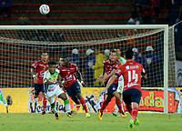 MEDELLÍN - COLOMBIA, 02-02-2018: Independiente Medellín y Atletico Huila en partido por los fecha 1 de la Liga Águila II 2018 jugado en el estadio Atanasio Girardot de la ciudad de Medellín. / Independiente Medellin and Atletico Huila in match for the date 1 of the Aguila League II 2018 played at Atanasio Girardot stadium in Medellin city. Photo: VizzorImage/ León Monsalve / Cont