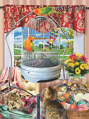 Lori, REALISTIC ANIMALS, REALISTISCHE TIERE, ANIMALES REALISTICOS, zeich, paintings+++++Bird Cage Puzzle_6_10in_72,USLS131,#a#, EVERYDAY ,puzzle,puzzles