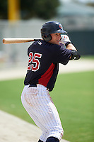 Minnesota Twins Travis Blankenhorn (25) during an instructional league game against the Boston Red Sox on September 26, 2015 at CenturyLink Sports Complex in Fort Myers, Florida.  (Mike Janes/Four Seam Images)