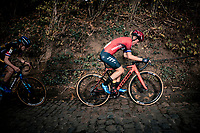 Annemarie Worst (NED/777) up the infamous Koppenberg<br /> <br /> Koppenbergcross 2020 (BEL)<br /> women's race<br /> <br /> ©kramon