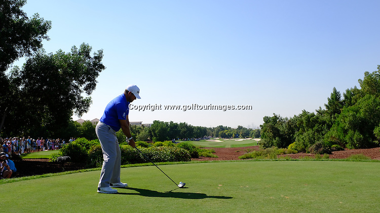 LEE WESTWOOD (ENG) during round two of the 2016 DP World Tour Championships played over the Earth Course at Jumeirah Golf Estates, Dubai, UAE: Picture Stuart Adams, www.golftourimages.com: 11/18/16