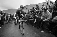 Roman Van Uden (NZL) on top of Honister Pass<br /> <br /> Tour of Britain<br /> stage 2: Carlisle to Kendal (187km)