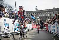 Greg Van Avermaet (BEL/BMC) on his way to the sign-in podium<br /> <br /> 108th Milano - Sanremo 2017