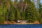 Float plane on the Chippewa Flowage in northern Wisconsin.