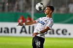 09.08.2019, BWT-Stadion am Hardtwald, Sandhausen, GER, DFB Pokal, 1. Runde, SV Sandhausen vs. Borussia Moenchengladbach, <br /><br />DFL REGULATIONS PROHIBIT ANY USE OF PHOTOGRAPHS AS IMAGE SEQUENCES AND/OR QUASI-VIDEO.<br /><br />im Bild: Leart Paqarada (#19, SV Sandhausen)<br /><br />Foto © nordphoto / Fabisch