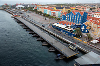 Willemstad, Curacao, Lesser Antilles.  Queen Emma Bridge Open for Ship to Pass.
