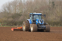 8-3-2021 Power harrowing land before drilling Spring Barley <br /> ©Tim Scrivener Photographer 07850 303986<br />      ....Covering Agriculture In The UK....