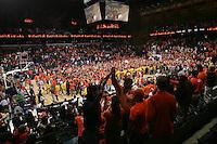 students  fans UVa beats Duke 68-66. Photo/Andrew Shurtleff