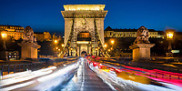 Budapest lights and landmarks, in Hungary, Central Europe.