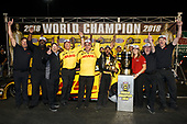 J.R. Todd, DHL, Toyota, Camry, Funny Car, winner, trophy, celebration, champion, championship