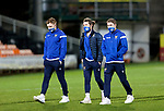 Dundee United v St Johnstone…12.01.21   Tannadice     SPFL<br />Liam Craig, Stevie May David Wotherspoon pictured on the pitch prior to kick off<br />Picture by Graeme Hart.<br />Copyright Perthshire Picture Agency<br />Tel: 01738 623350  Mobile: 07990 594431