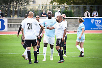 6th September 2020, Poissy,Paris, France; Football Friendly, Varietes Club de France versus Chi PSG;  Margot Dumont (Variete France ) and players shake hands at the match final whistle