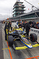 28th May 2021; Indianapolis, Indiana, USA;  NTT Indy Car Series car driver Colton Herta (26) sits in his car during Miller Lite Carb Day as teams prepare for the 105th running of the Indianapolis 500