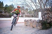 Chelva, SPAIN - MARCH 6: Jose Angel Cascales during Spanish Open BTT XCO on March 6, 2016 in Chelva, Spain