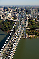 aerial photograph George Washington bridge Manhattan, New York City