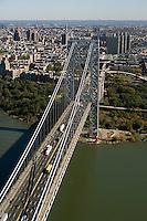 aerial photograph George Washington bridge Manhattan, New York City