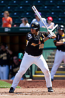 Chris O'Brien (22) of the Wichita State Shockers at bat during a game against the Missouri State Bears on April 9, 2011 at Hammons Field in Springfield, Missouri.  Photo By David Welker/Four Seam Images