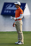 Liang Wen-Chong in action at the BMW Masters, which takes place from the 24-27 October at Lake Malaren Golf Club in Shanghai.    Photo by Andy Jones / The Power of Sport Images for Ballantines.