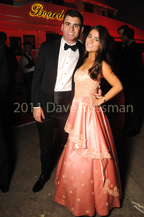 Mason Baldwin and Lexie Ammons at the San Luis Salute Friday March 01, 2019.  (Dave Rossman Photo)