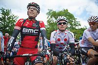 Philippe Gilbert (BEL/BMC) & Gianni Meersman (BEL/OPQS) at the start<br /> <br /> Ster ZLM Tour<br /> stage 3: Buchten-Buchten (190km)