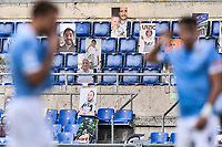 pictures of supporters on the stand during the Serie A football match between SS Lazio  and Brescia Calcio at stadio Olimpico in Roma (Italy), July 29th, 2020. Play resumes behind closed doors following the outbreak of the coronavirus disease. <br /> Photo Antonietta Baldassarre / Insidefoto